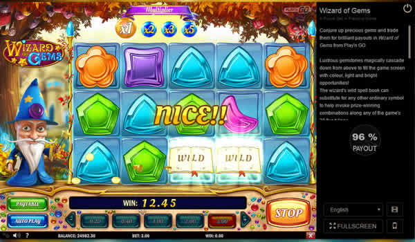 Play'n GO Slot Wizard of Gems