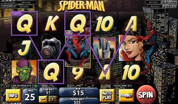 Spiderman Playtech casino Slot