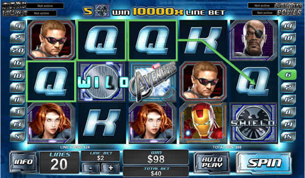 The Avengers Playtech Slot
