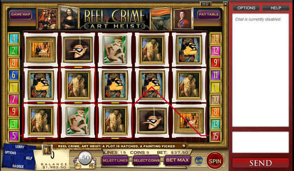 Reel Crime: Art Heist Rival casino Slot