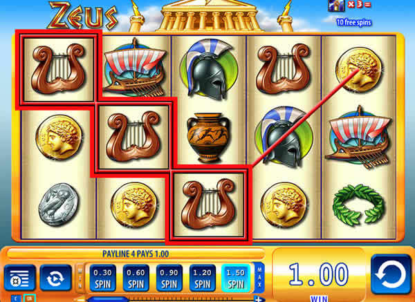 WMS casino software Zeus 3