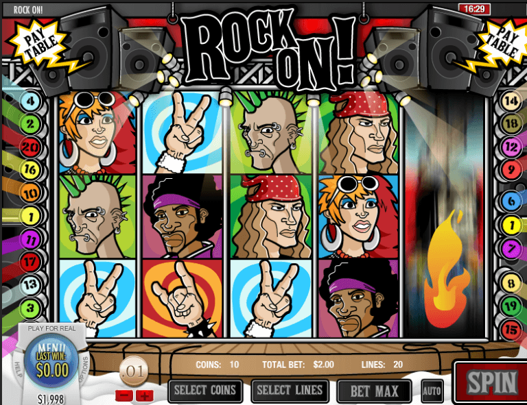 Rock On! Slot Machine