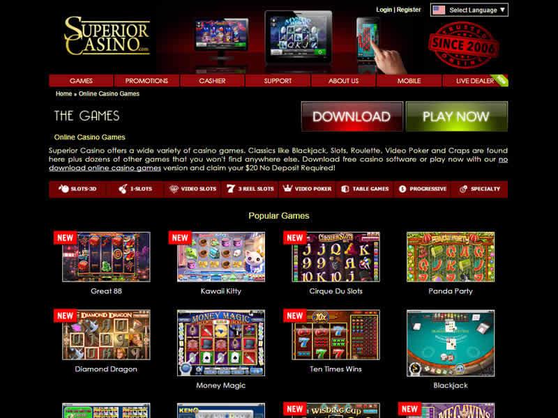 Superior Casino Games Hall