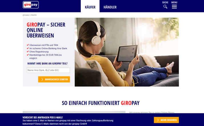 GiroPay Homepage