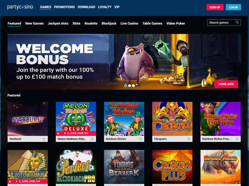 Party Casino Slots Page