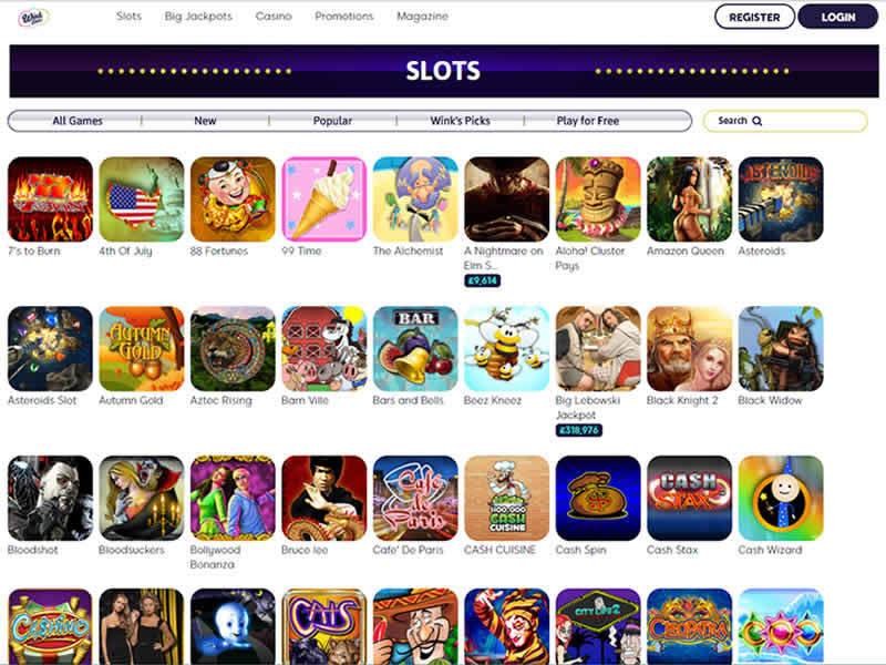 Wink Slots Casino Games
