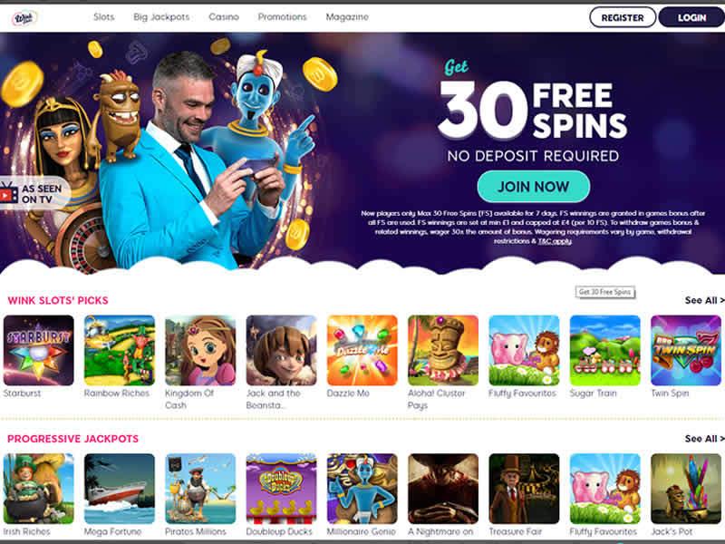 Wink Slots Casino HomePage