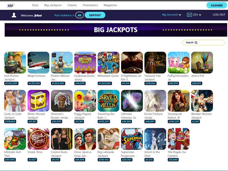 Wink Slots Casino Game Jackpots