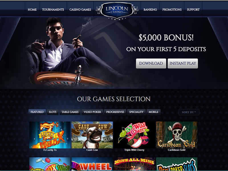 Lincoln Casino Review Usa Friendly Instant Withdrawals