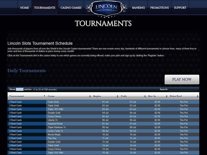 Lincoln Casino Tournaments