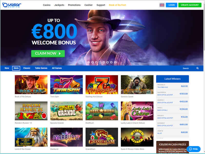 Quasar Gaming Casino HomePage