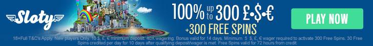Sloty Casino Bonus plus Terms and Conditions