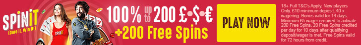 Spinit Casino Welcome Bonus + Terms and Conditions