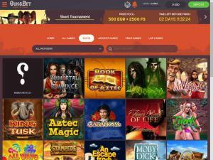 Gunsbet Casino Account logged in: Slots