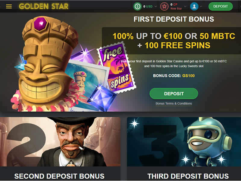 Golden Star Casino Bonuses
