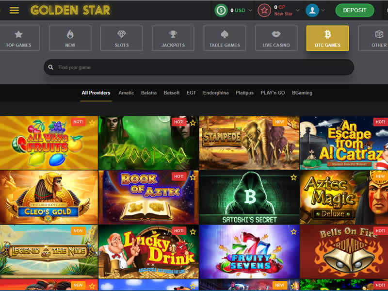 Golden Star BTC Games