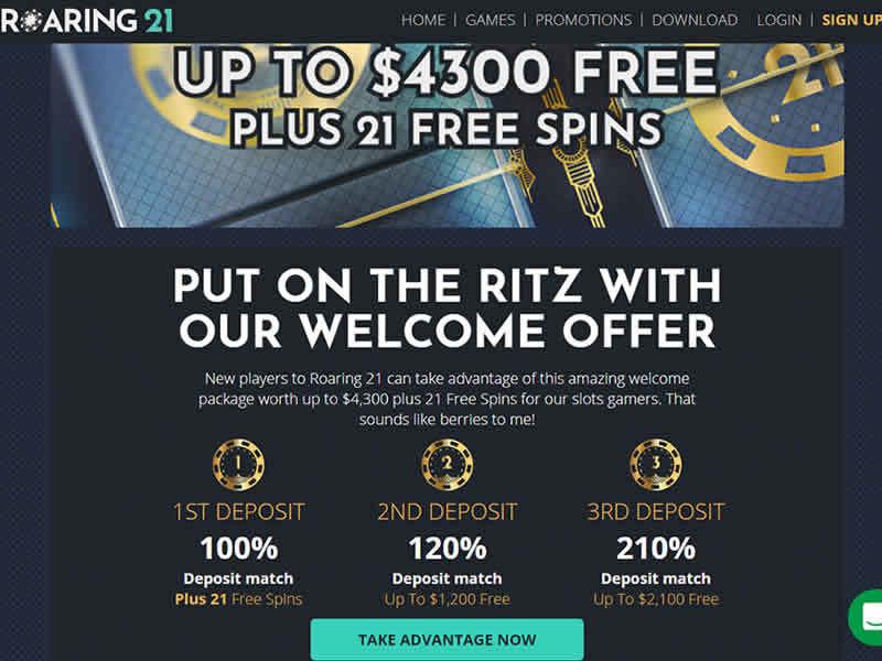 Roaring 21 casino Bonus