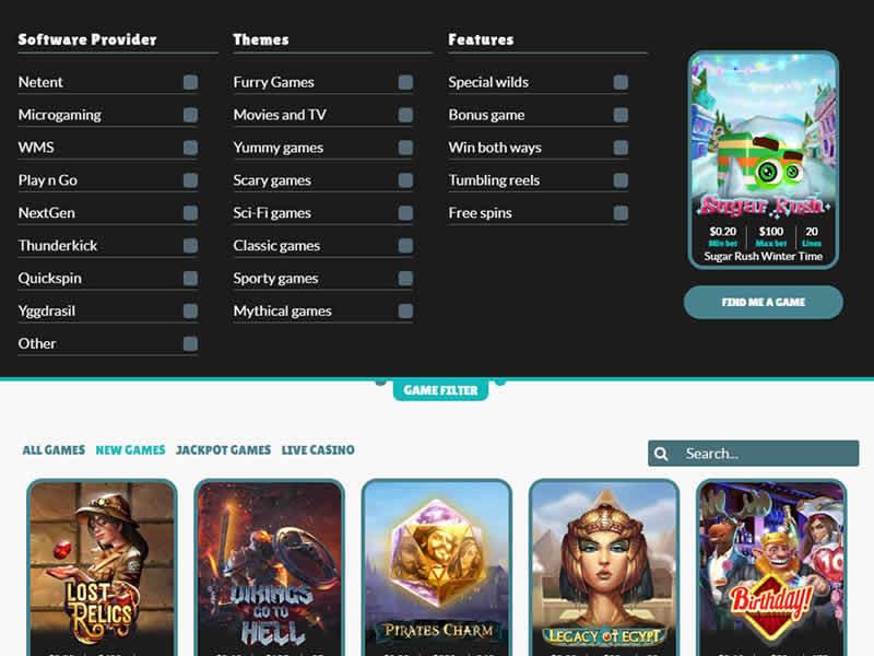 Cashmio Casino Great Game Filters