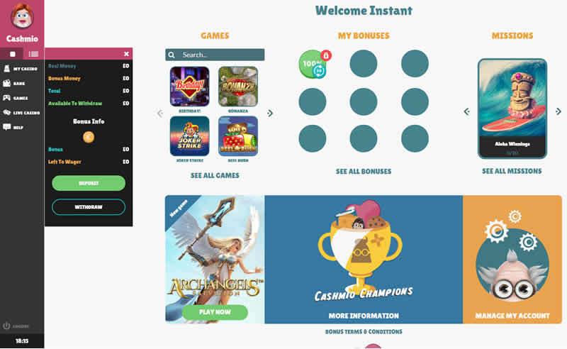 Cashmio Casino Gamification