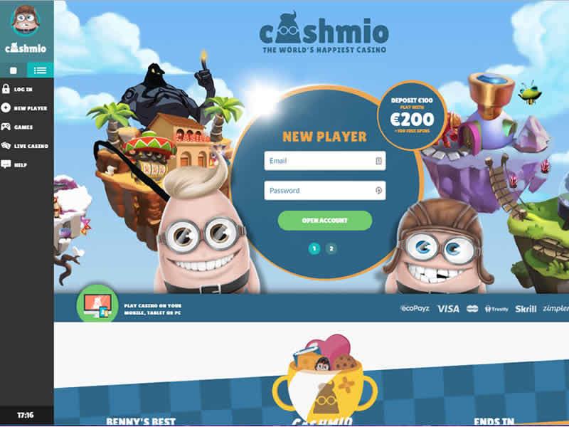 Cashmio Casino Home Page