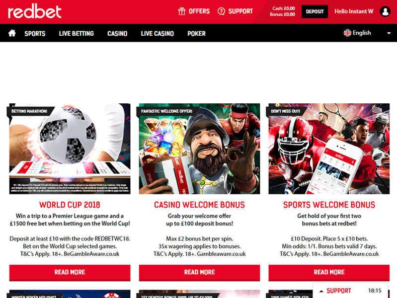 Redbet Casino Bonuses & Promotions