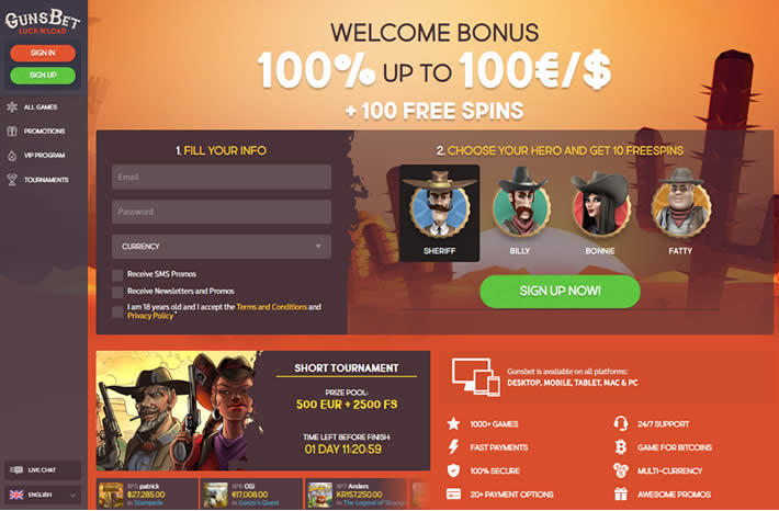3 Online Casinos that Rock - Australia - Gunsbet Casino