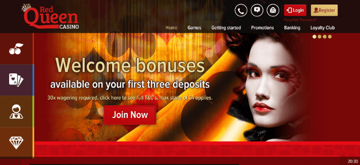 Red Queen Casino Bonus