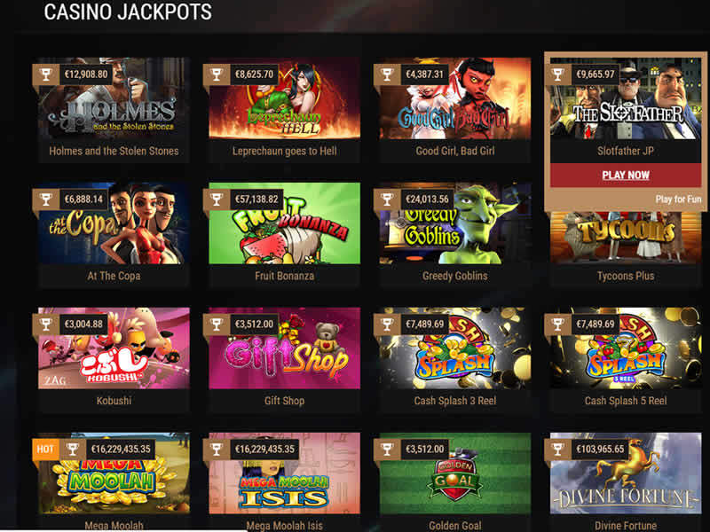 King Billy Casino Games