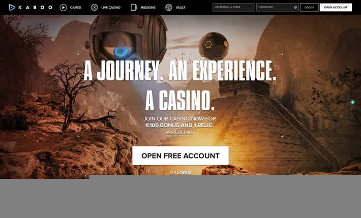Kaboo Casino HomePage