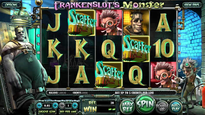 Online Slots for Real Money Betsoft: Frankenslots Monster