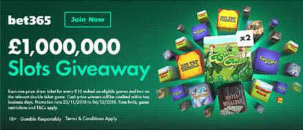 Bet365 Slots Giveaway 2018
