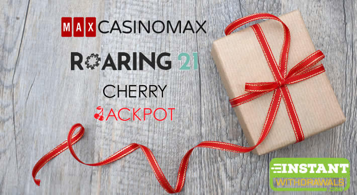 Casino Max, Roaring 21 and Cherry Jackpot Holiday Promotions