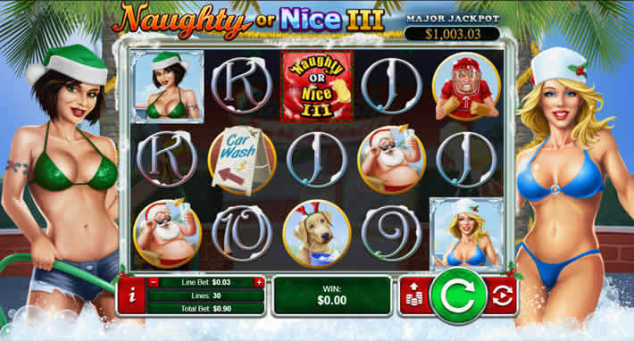 Naughty or Nice 3 RTG Slot Machines