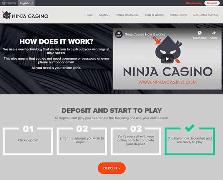 Ninja Casino How does it work
