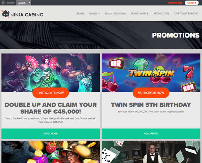 Ninja Casino Promotions