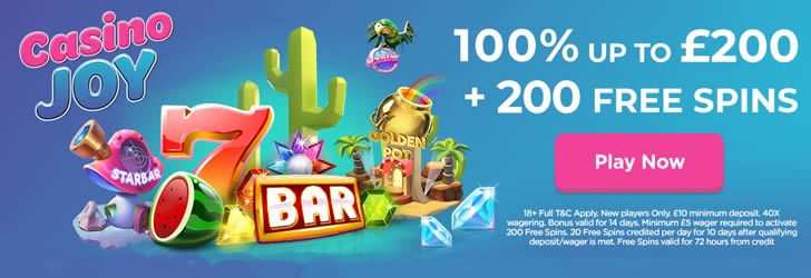 Casino Joy Welcome Promotion UK