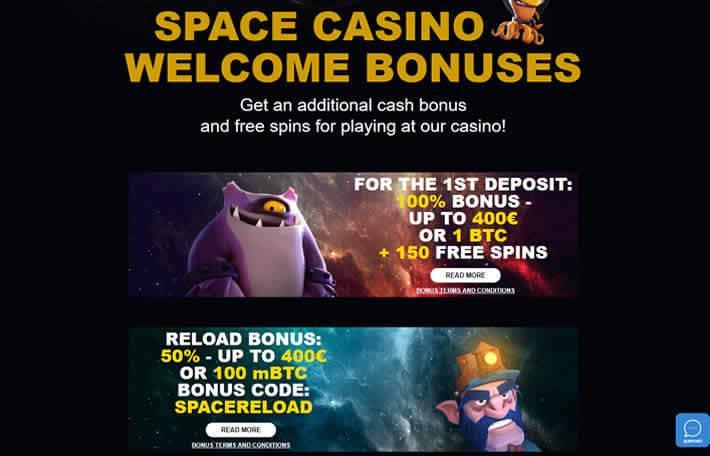 Space Casino Casino Bonuses