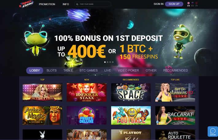 Space Casino Homepage