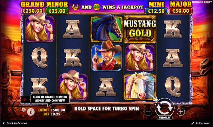 Mustang Gold slot by Pragmatic Play