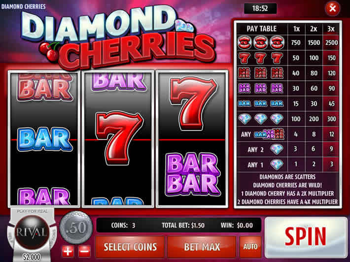 Top Ten Slots With Minimum Bets: Diamond Cherries