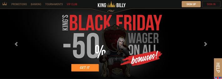 KingBilly Casino Black Friday Promotion