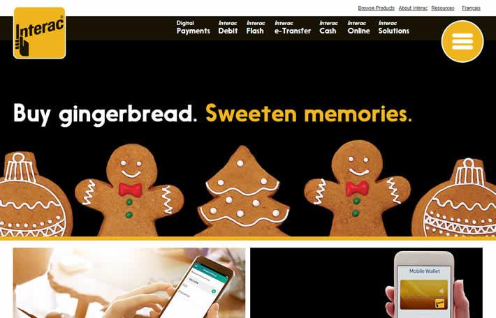 Interac Homepage