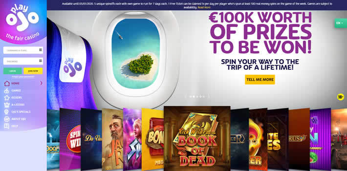 PlayOJO Casino Come Fly promo