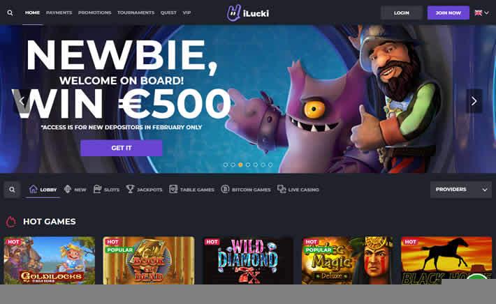 ilucki casino new homepage