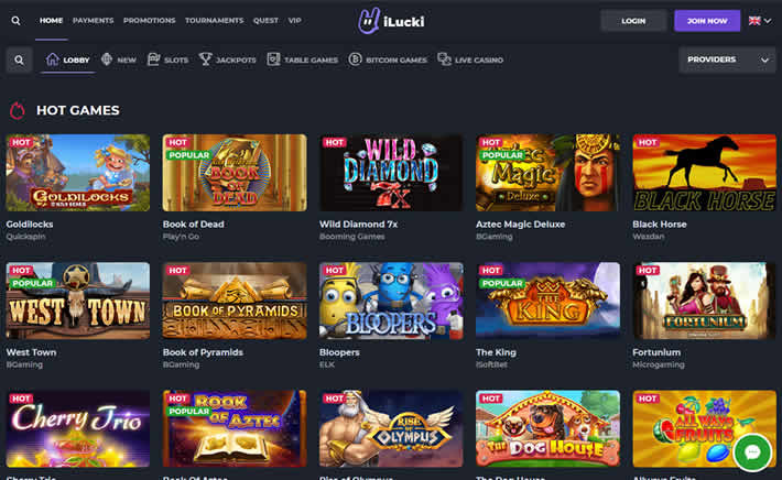 ilucki casino new game filters