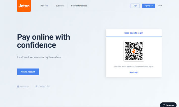 Jeton Homepage