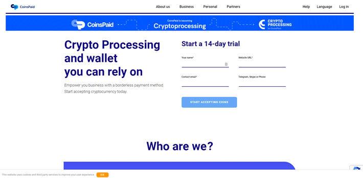 Coinspaid Casinos Homepage