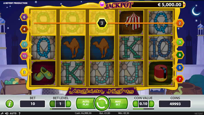 Arabian Nights slot: Netent Jackpots