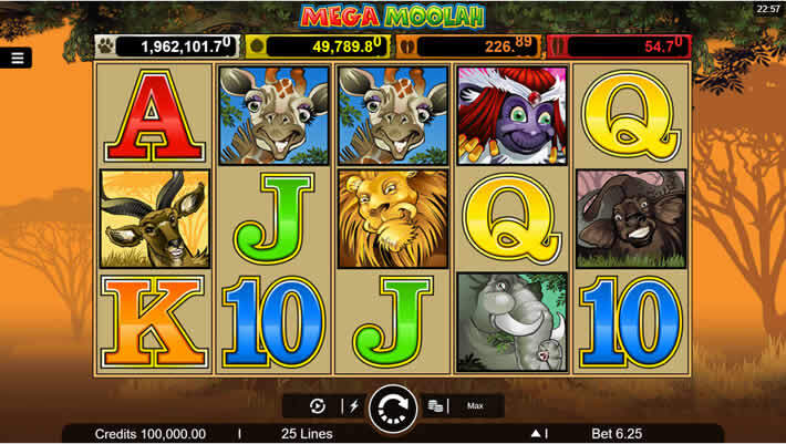 Mega Moolah Slot: Microgaming Progressives.