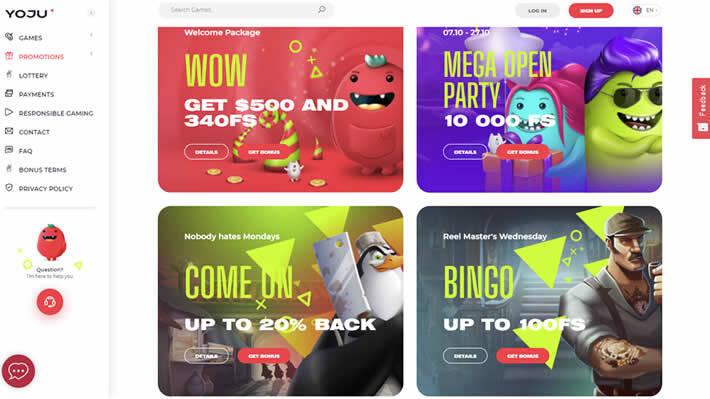 Yoju casino promotion page